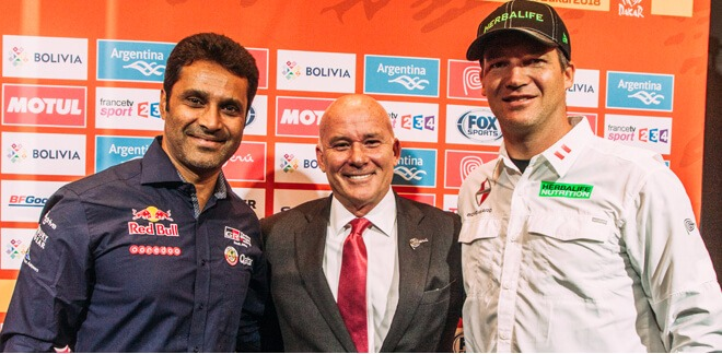 The 2018 Dakar Rally was presented in Paris and the Peruvian delegation was there