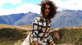 Scenes from the Sacred Valley of the Incas grace the pages of Marie Claire's U.S. edition