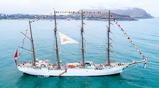 The mainsail of the iconic vessel will carry our country brand on an international mission in 2020